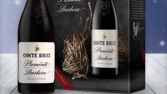 Ny design og årgang men samme bløte Conte Ricci Barbera - ett bra følge til julemenyen!