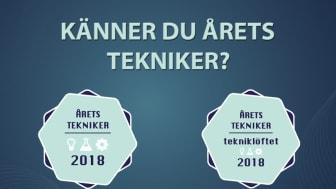 Nominera din kandidat på aretstekniker.se