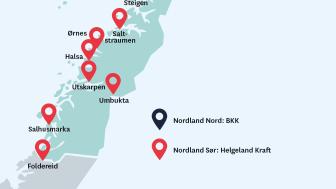 Her kommer de nye hurtigladerne i Nordland og Namdalen.