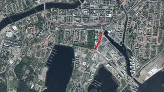 Tullhusgatan stängs av för biltrafik