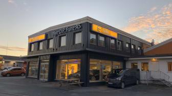 Fusjoneres: O.P. Fure i Bodø og Hemnes Bil AS i Mosjøen og Mo i Rana endrer navn. Foto: Nordvik Gruppen.