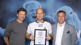 Mikael Andreasson, Åsa IF, tillsammans med Jesper Blomqvist och Mikael Tykesson.