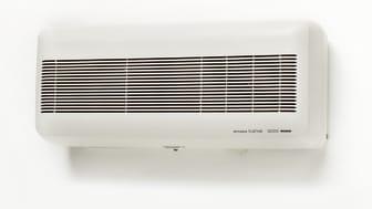 Mitsubishi Electrics VL-100 sänkte effektivt radonhalten i barnfamiljens hus