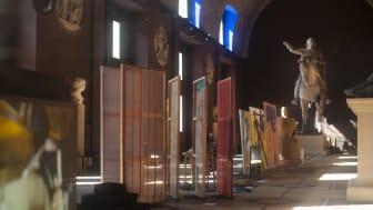Fra pop-up udstillingen 'Temporary Truth' på Thorvaldsens Museum skabt af den eksperimenterende kuratorgruppe pro tempore.art, som modtog bevilling ved ansøgningsrunden i maj 2021. Fotograf: Jakob Storm.