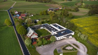 Mjellby konstmuseum från ovan