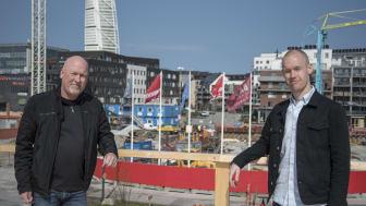 Mats Andersson och Gustav Karlsson är ansvariga för projektet på Avarn Security Systems.