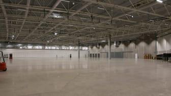 Den svenska mässbranschen är sedan i mars lamslagen och tusentals kvadratmeter mässlokal står tom. Foto: Åbymässan.