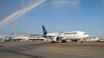 "Arrival of the D-ALFF ""Konnichiwa Japan"" at Narita Airport in Tokyo, Japan"