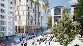 Der Bau des Turms am Mailänder Platz in Stuttgart liegt in den Händen von ZÜBLIN (Copyright: RKW Architektur + für STRABAG Real Estate GmbH)