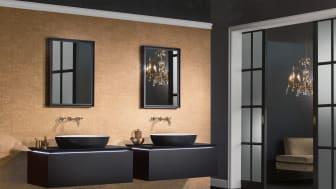 Våga svart i badrummet! Svart är en tidlös klassiker och i år är den dessutom en av de tydligaste trendfärgerna vi ser i våra badrum. På bilden tvättställ ur Villeroy & Boch serie Artis.