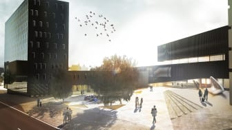 """""""Back in Black"""". Competition finalist in the international design competition for the New National Arts Museum at Vestbanen. Rodeo Arkitekter in collaboration with Torger Wendelbo and Sondre Gundersen."""