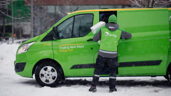 Hemleveranser i Malmö med bilar som drivs med HVO100 eller el. FOTO: Bring