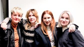 F/activisterna Anna-Carin Abrahamsson, Karin Holm, Marielle Krus, och Meya Haydon