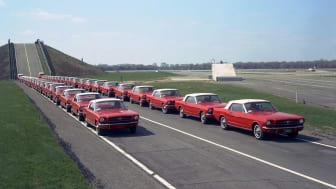 29,545 miles 1964 Fleet of Mustangs