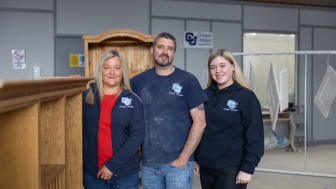 Shauna and Declan O'Neill, with their daughter Ellie at the new expanded showroom