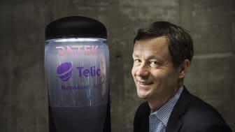 Datek Light Control og Telia har utviklet en prototype for smart utebelysning ved hjelp av den nye teknologien for tingenes internett, NB-IoT. Datek har stand under denne ukens Nordic Edge Expo, der løsningen presenteres.Foto: Marie von Krogh/Datek