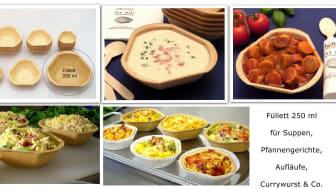 Füllett, die essbaren Schalen für Currywurst, Aufläufe, Suppen, Salate uvm..