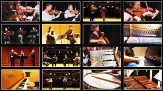 """Terry Rileys verket """"In C"""" har spelats in helt digitalt från nio olika orkestrar."""