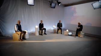 Leif Johannson, Styrelseordförande AstraZeneca, Carl Bennet, Marcus Wallenberg i samtal för GoCo Health Innovation City.