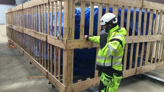 Leverans av absorptionskylmaskin för fjärrkyla tidig vår 2018. Hela anläggningen är en investering på 54 miljoner kronor. Foto: Öresundskraft
