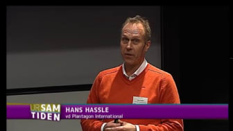 """Hans Hassle, CEO of Plantagon, speaks on """"Feeding the city"""", in television seminar about Urban Agriculture"""