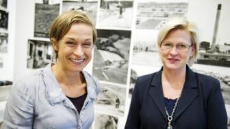 Dietisterna Kajsa Asp Jonson, Mersmak kommunikation och Maria Sitell, Oakriver PR på Svenskt Kötts pressträff om charkuterier