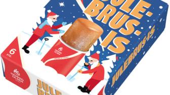 Julebrus-isen er Norges første av sin sort, og vil selges i 6-pk fra uke 38.