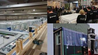 Den första bostadsmodulen lämnar Isolamins fabrik