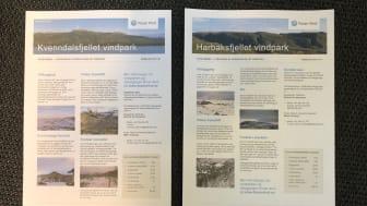 Siste nytt om Kvenndalsfjellet og Harbaksfjellet vindparker i postkassen