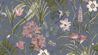 Wallpaper Boutique 10x0,53 m Cornet Flower Blue Nonwoven