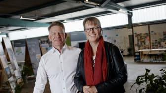 Peder Wahlgren, VD GoCo Development AB och Anna Eckerstig, Ny projektutvecklingschef GoCo Development AB