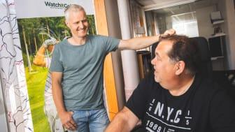 Nicklas Boström, vd och Patric Hörnsten Nilsson, grundare av Watchitgolf i Örnsköldsvik.