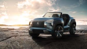 Verdenspremiere for Mitsubishi Motors Mi-Tech Concept, en elektrifisert buggy-SUV med gassturbinmotor, og Super Height K-Wagon Concept på Tokyo Motors Show