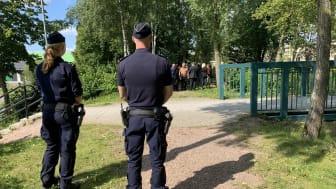 Poliser på Källebergsskolan hela veckan