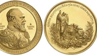 Russisk gullmedalje auksjonert bort til 1,3 millioner kroner