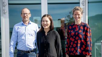 Konsernsjef i Mentor Medier AS Per Magne Tveiten, Publisher i Morgenbladet Sun Heidi Sæbø og konsernsjef i NHST Media Group AS Hege Yli Melhus Ask