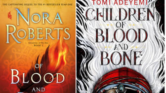 Nora Roberts' book cover (left) vs Tomi Adeyemi's book cover (right)