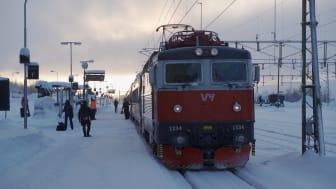 Den första april 2022 börjar Nattåget Norrland trafikera Skellefteå.