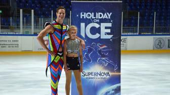 Wesley Campbell und Antonia Weber stellen die neue Holiday on Ice-Show vor - Foto: Isabell Gradinger