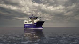 MS Angelsen Senior, den nye fiskebåten til Hans Angelsen og Sønner (Ill.: Marin Design AS)