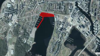 Isbrytning för dagvattenledning i Mariebergsviken
