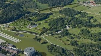 Idéskissen LIV från arkitekttävlingen 2010 visar hur en begravningsplats kan byggas bredvid den förorenade tippen och prisbelönta parken. Detta förslag skulle kunna varit färdigbyggt senast 2015.