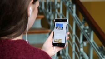 Mit einem Audioguide können Sehbehinderte die Kongresshalle entdecken - Foto: Andreas Schmidt