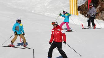 Unterrichtsstunde in der Skischule Mürren-Schilthorn