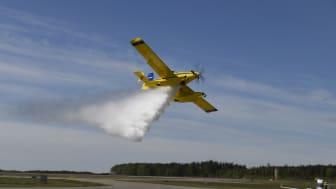 MSB skickar två mindre skopande flygplan till skogsbrand i Vimmerby
