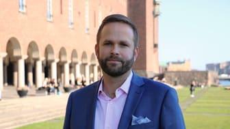 Jonas Naddebo (C), kultur- och stadsmiljöborgarråd i Stockholms stad.