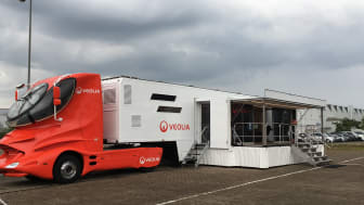 Der Veolia Truck zur Arbeitssicherheit zu Besuch in Celle