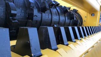 Rotor med Karbidlegering och Heavy Duty motkam för riktigt svåra och slitande material