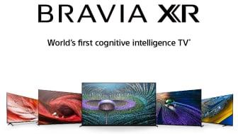 BRAVIA XR range, from left to right: X90J, X95J, Z9J, A90J, A80J