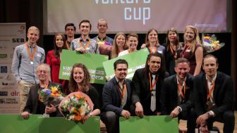 Samtliga vinnare i Venture Cup Östs regionfinal 2018. Foto: Victor Ackerheim